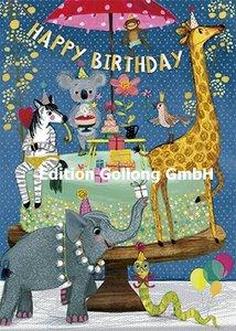 Mila Marquis Postcard | Happy Birthday (Tiere)