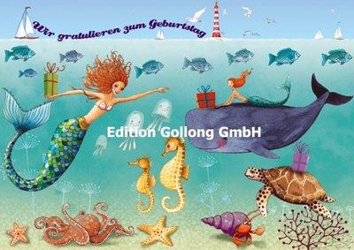 Mila Marquis Postcard | Wir gratulieren (Unter Wasser)