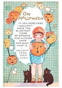 Victorian Halloween Postcard   A.N.B. - On Halloween