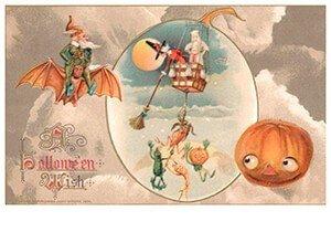 Victorian Halloween Postcard | A.N.B. - A halloween wish