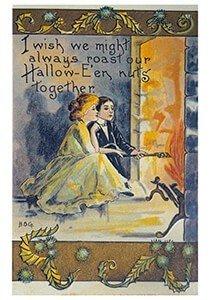 Victorian Halloween Postcard   A.N.B. - Halloweenwens