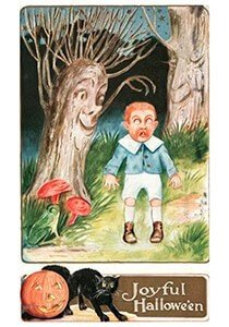 Victorian Halloween Postcard | A.N.B. - A joyful halloween