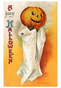 Victorian Halloween Postcard   A.N.B. - A jolly halloween