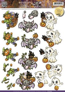 3D Cutting sheet - Yvonne Creation - Halloween - Cute Creatures