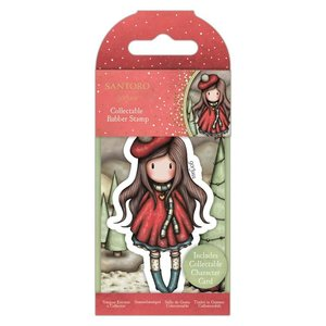 Gorjuss Collectable Rubber Stamp - Santoro - No.84 You Turn My World Upside Down