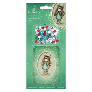 Gorjuss Embellishment Tin (200pcs) - Santoro - Doe-Eyed
