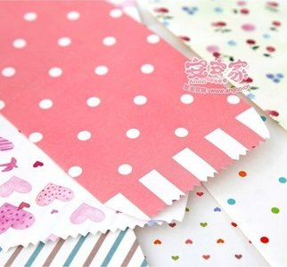 Natural Pattern Envelopes (White Dots on Pink)