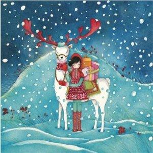 Mila Gablasova Square Postcard | Christmas