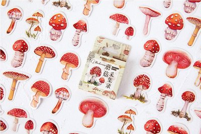 Sticker Flakes Box | Mushroom