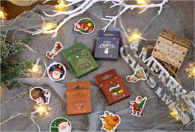 Sticker Flakes Box Yuxian | Merry Christmas