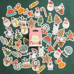 Sticker Flakes Box | Winter Penguin