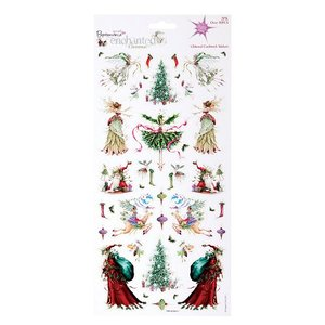 Papermania Glitter Cardstock Stickers - Enchanted Christmas (2PK)