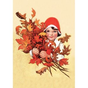 Postcard | Gathering Leaves