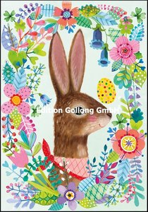 Mila Marquis Double Card   Easter bunny