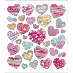 Seal Sticker with Silver Foil   Hearts