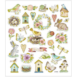 Seal Sticker with Gold Foil   Spring and Easter