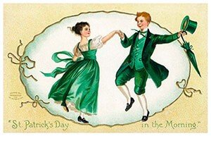 Victorian Postcard   A.N.B. - St. Patrick's Day in the morning