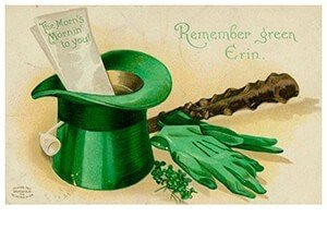 Victorian Postcard | A.N.B. - St. Patrick's Day Remember green Erin