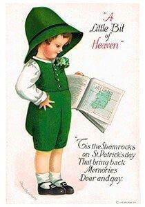 Victorian Postcard | A.N.B. - St. Patrick's Day A little bit of heaven
