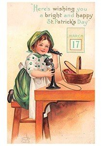 Victorian Postcard | A.N.B. - St. Patrick's Day Wishing you a bright and happy St. Patrick's day
