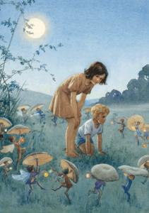 Postcard Margareth W. Tarrant   Midsummer Night