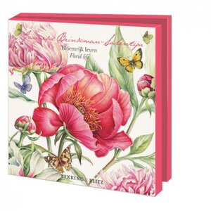 Card folder with envelopes - square: Bloemrijk leven, Florid Life, Janneke Brinkman-Salentijn