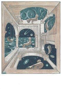 Museum Cards Postcard   M.C. Escher, Another World