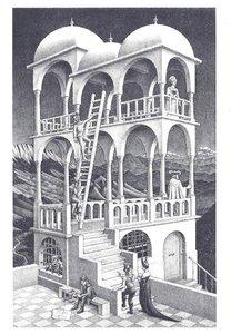 Museum Cards Postcard   M.C. Escher, Belvedere