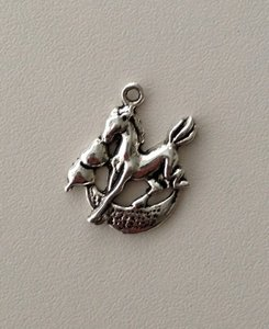 Tibetan Silver Tone Animals Charms Pendants - Horse