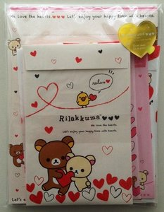 San-X Rilakkuma Letter Set - Hearts