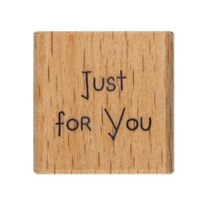 Me to You Wooden rubber stamp | Just For You (SM stamp)