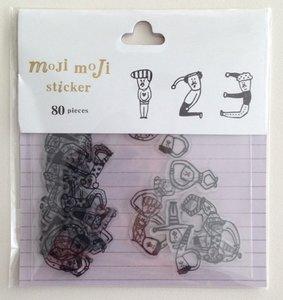 Sticker Flakes Sack | Moji Moji Numbers