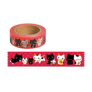 San-X Kutusita Nyanko Washi Deco Tape | Lucky Cat