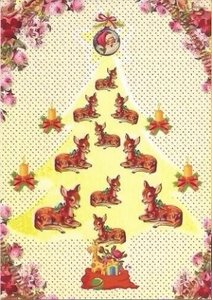Postcard Caatje | Christmas Tree Deer