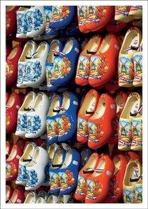 Postcard Kiek   Coloured Wooden Shoes