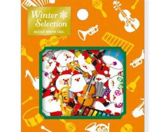 Sticker Flakes Sack Mindwave Winter Selection | Santa Music