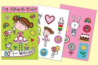 Rachel Ellen Designs Sticker Match Note Pads | STMNT13 My Favourite Things Stickers