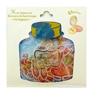 Q-Lia Jamjelly Sticker Flakes Sack | Girly