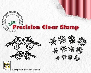 Nellie's Choice Clear Stamp | Flowerswirls - Snowflakes