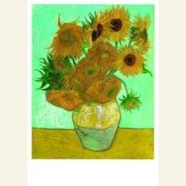 Art Unlimited Postcard | Vincent van Gogh | Twelve sunflowers in a vase