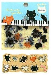 San-X Sticker Flakes Sack | Kutusita Nyanko