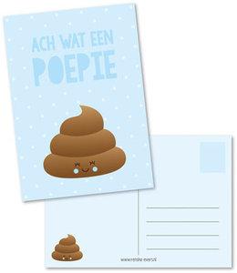 Postcard Renske Evers   Wat een poepie blauw