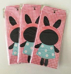 Cute Kawaii Envelopes | Rabbit - Pink Checkered