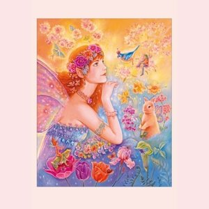 Postcard Fantasy Judy Mastrangelo | Goddess of spring