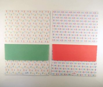 Envelopes Set (2 designs) | Alphabet and Numbers