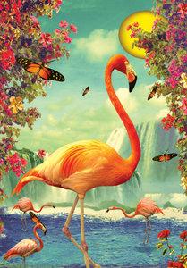 Flamingos Individual Postcard by Max Hernn