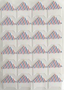 Photo Corner Stickers | Airmail Stripes