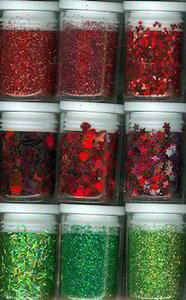Glitter & Confetti Set | Red & Green