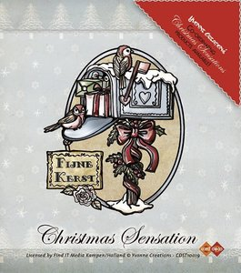 Yvonne Creations Clear Stamp - Christmas Sensation - Kerstbrievenbus
