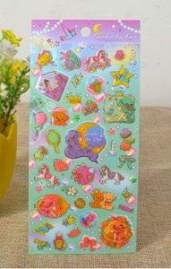 Kawaii Puffy Epoxy Stickers | Garden Tea Time
